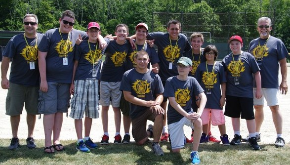 Wakefield Chapter poses for a picture after finishing the Tug-of-War Tournament.